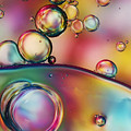 Rainbow Bubble Drops Poster by Sharon Johnstone