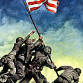 Raising The Flag On Iwo Jima Poster by War Is Hell Store
