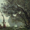 Recollections of Mortefontaine Print by Jean Baptiste Corot