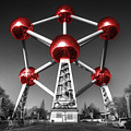 Red Atomium Poster by Rob Hawkins