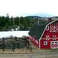 Red Barn Print by Will Borden