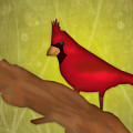 Red Bird Poster by Melisa Meyers