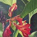 Red Cannas Poster by Deleas Kilgore