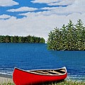 Red Canoe Print by Kenneth M  Kirsch