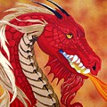 Red Dragon Print by Debbie LaFrance