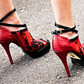 Red Heels Poster by Marion McCristall