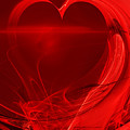 Red Love . A120423.279 Print by Wingsdomain Art and Photography
