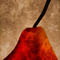 Red Pear III Print by Carol Leigh