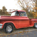 Red Pick-up Print by Steve Gravano