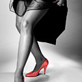 Red Shoes Poster by Jerry Taliaferro