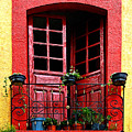 Red Window Poster by Olden Mexico