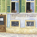 Restaurant Pfauen Print by Scott Nelson
