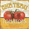 Retro Veggie Labels 4 Print by Debbie DeWitt