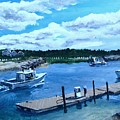 Returning to Sesuit Harbor Print by Jack Skinner