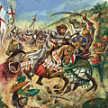 Richard the Lionheart during the Crusades Print by Peter Jackson