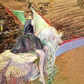 Rider on a White Horse Poster by Henri de Toulouse Lautrec