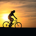 Riding At Sunset Poster by Dave Fleetham - Printscapes