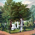 Robert E. Lee Visits Stonewall Jackson's Grave Print by War Is Hell Store