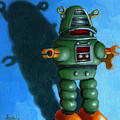 Robot Dream - realism still life painting Print by Linda Apple