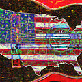 Rock and Roll America 20130123 Red Print by Wingsdomain Art and Photography