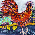 Rooster in the Morning Poster by Carol  Law Conklin