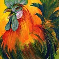 Rooster of Another Color Print by Summer Celeste