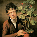 Rubens Peale with a Geranium Print by Rembrandt Peale