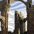 Ruins on the Holy Island Poster by Carl Purcell