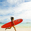 Running with Surfboard Print by Dana Edmunds - Printscapes