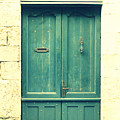 Rustic teal green door Print by Nomad Art And  Design