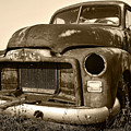 Rusty But Trusty Old GMC Pickup Print by Gordon Dean II