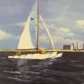 Sailing in the Netherlands Print by Jack Skinner