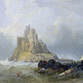 Saint Michael's Mount in Cornwall  Poster by William Clarkson Stanfield