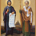 Saints Cyril And Methodius. Missionaries to the Slavs Poster by Svitozar Nenyuk