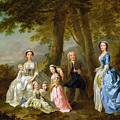 Samuel Richardson seated with his family Print by Francis Hayman