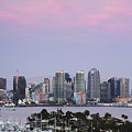 San Diego Skyline and Marina at Dusk Poster by Jeremy Woodhouse