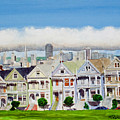 San Francisco's Painted Ladies Print by Mike Robles