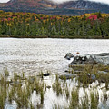 Sandy Stream Pond view of Baxter Peak in Baxter State Park Maine Print by Brendan Reals