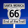 Santa Monica Route 66 Sign Poster by Paul Velgos