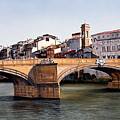 Santa Trinita Bridge Print by Matthew Bates