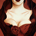 Satin Rose Poster by Lawrence Supino