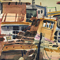 Sausalito House Boats Print by Donald Maier