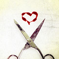 scissors and heart Poster by Joana Kruse