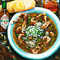 Seafood Gumbo Print by Dianne Parks