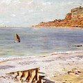 Seascape at Sainte Adresse  Poster by Claude Monet