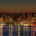 Seattle Downtown Skyline From Alki Beach Dawn Print by David Gn Photography