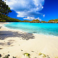 Secluded  Beach Print by George Oze