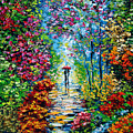 Secret Garden Oil Painting - B. Sasik Print by Beata Sasik