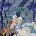 Secret Kiss Poster by Georges Barbier