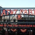 SF Giants Stadium Poster by Kathleen Fitzpatrick